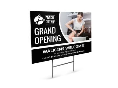 Hair Salon Grand Opening Yard Sign Template esj2fydu4n preview