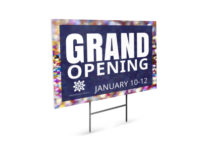 Hotel Grand Opening Yard Sign Template s2rpiwuglk preview
