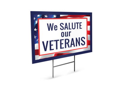 Veterans Day Yard Sign Template iajue5enoi preview