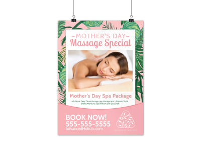 Spa Mother's Day Poster Template d7qh8b8oxg preview
