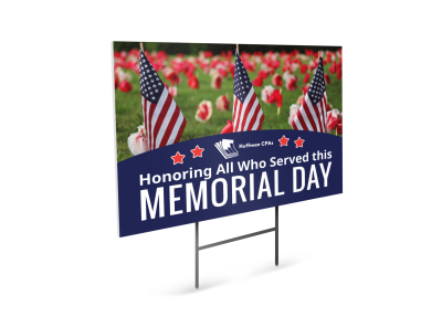 Memorial Day Yard Sign Template ui8xmt4ip9 preview