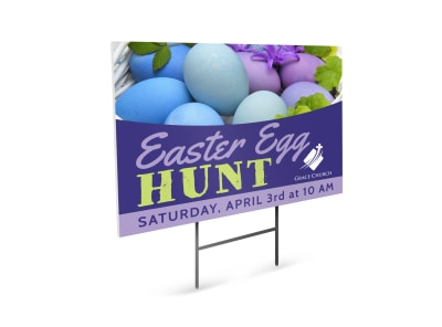 Easter Egg Hunt Yard Sign Template skak4vtcw4 preview