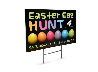 Easter Egg Hunt Yard Sign Template 540qw31wc0 preview
