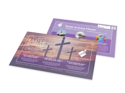 Easter Church Service EDDM Postcard Template xycguz4ufn preview