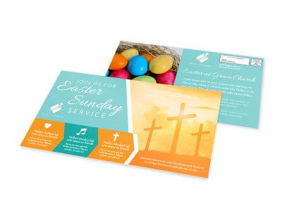 Easter Church Service EDDM Postcard Template ire9y3cbez preview