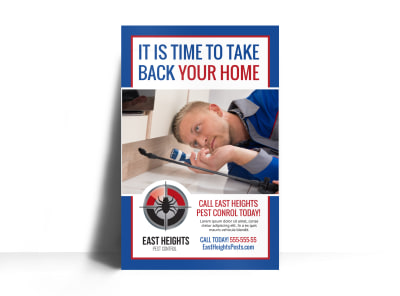 Pest Control Poster Template d0mr49nt52 preview
