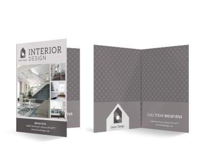 Interior Design Bi-Fold Pocket Folder Template 5siz3tgk64 preview