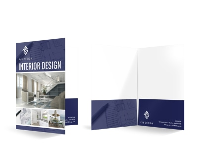 Interior Design Bi-Fold Pocket Folder Template q4el8n0v6m preview