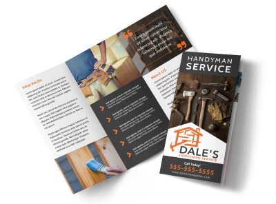 Handyman Services Offered Tri-Fold Brochure Template 3lhxyfupho preview
