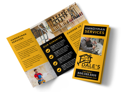 Handyman Services Offered Tri-Fold Brochure Template k0g1yl5g5a preview