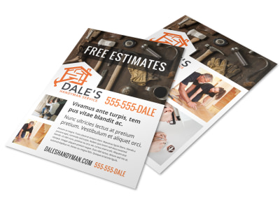 Handyman Free Estimate Flyer Template m7i18h3f8d preview