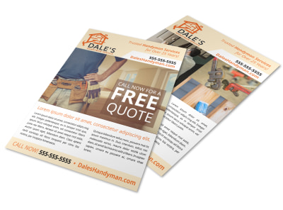 Handyman Free Estimate Flyer Template 9kfhbuaqk8 preview