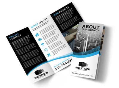 About Our Insurance Agency Tri-Fold Brochure Template 43g65cwu59 preview