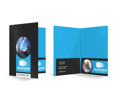 Insurance Agency Bi-Fold Pocket Folder Template r4gtlm3x0p preview