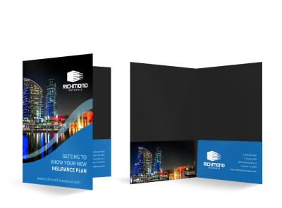 Insurance Agency Bi-Fold Pocket Folder Template f1tqrdlrxv preview