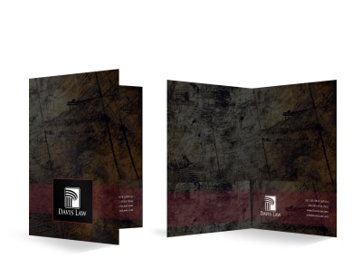 Law Firm Bi-Fold Pocket Folder Template u3x4nc7f70 preview