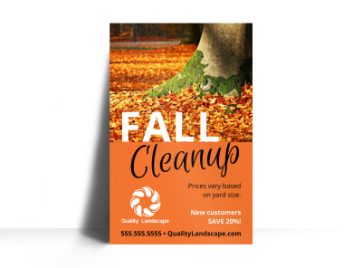Fall Cleanup Lawn Care Poster Template 1v3ifyhlfj preview
