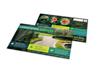 Landscaping Services Offered EDDM Postcard Template 8equzutjnd preview
