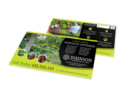 Landscaping Services Offered EDDM Postcard Template 988uzpms5a preview