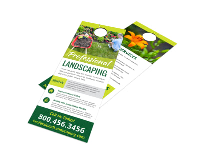 Landscaping Services Offered Door Hanger Template hvkwtpzq96 preview