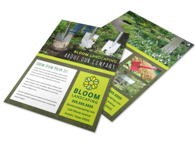 About Us Landscaping Flyer Template n2l42kh3sn preview