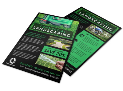 Commercial Landscaping Flyer Template lzny6nxmbj preview
