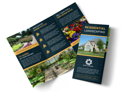 Residential Landscaping Tri-Fold Brochure Template apkrceea97 preview