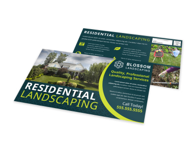 Residential Landscaping EDDM Postcard Template 78nrvxox7o preview