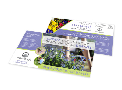 Residential Landscaping EDDM Postcard Template w52iy0tsws preview