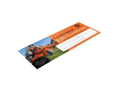 Landscaping Gift Certificate Template u145s5o6v1 preview