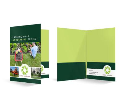 Landscaping Bi-Fold Pocket Folder Template 0n4ruexc3m preview