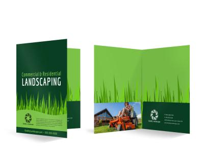 Landscaping Bi-Fold Pocket Folder Template vvnqnger9z preview