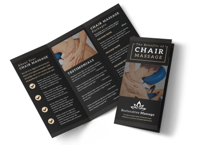 Chair Massage Tri-Fold Brochure Template 4uy46aarva preview