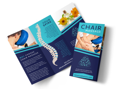 Chair Massage Tri-Fold Brochure Template w93fla0q4j preview