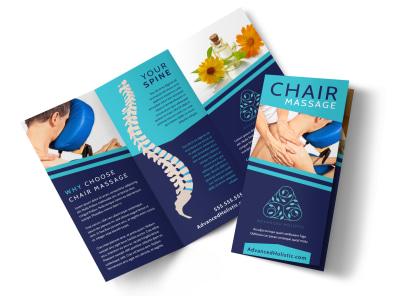 Chair Massage Tri-Fold Brochure Template w93fla0q4j preview