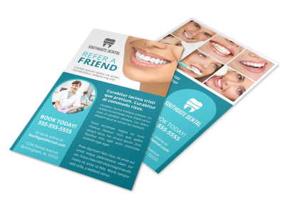 Refer A Friend Dental Flyer Template u9vhpt2s4a preview