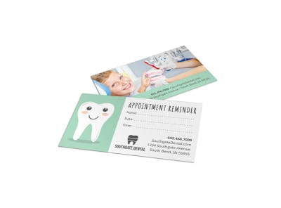 Pediatric Dental Business Card Template bnormjp248 preview