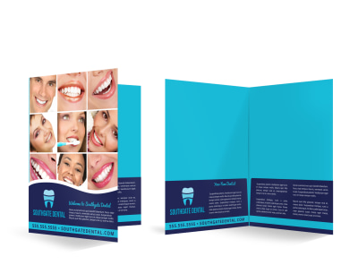 Dental Bi-Fold Pocket Folder Template sqmc7oy1nx preview