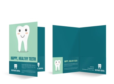 Dental Bi-Fold Pocket Folder Template o28cl4u2ah preview