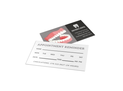 Dental Reminder Card Template htp2g5lgae preview