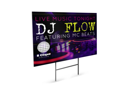 DJ Yard Sign Template z3d52n0nbp preview