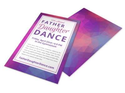 Father Daughter Dance Flyer Template ejgi8yq91q preview