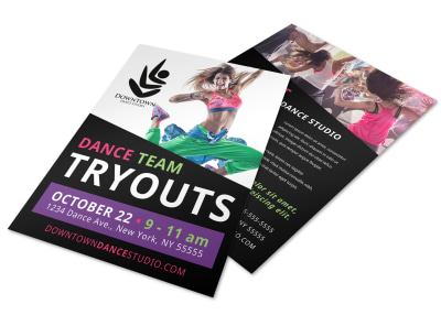 Dance Tryout Flyer Template y4btk62vsp preview