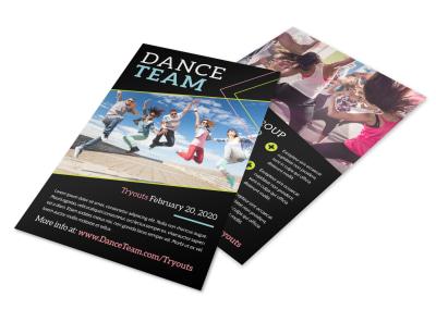 Dance Team Flyer Template 3cg19b89lw preview