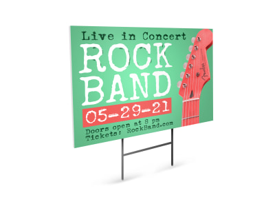 Concert Yard Sign Template hj1ov50co7 preview
