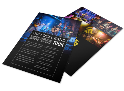 Band Tour Dates Flyer Template h82sgevze2 preview