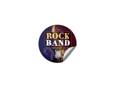 Rock Band Sticker Template 8jpb0oj5vn preview