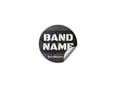 Rock Band Sticker Template f55sypjcxo preview