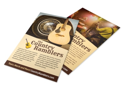 Country Band Flyer Template 4ze0w8yopa preview