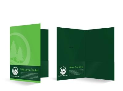 Summer Camp Bi-Fold Pocket Folder Template 9ydv17u6ee preview